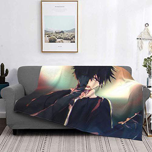 Gua Tan Jujutsu K-Aisen Mantas, manta de felpa ultra suave, manta de forro polar para sofá cama y sala de estar de 201 x 152 cm