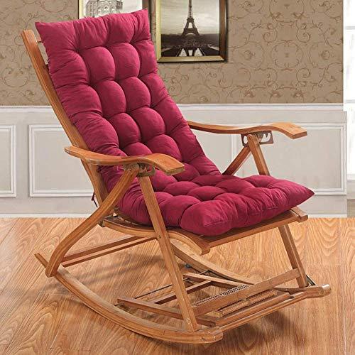 KEOA Chair Patio Cushion Garden Patio Chaise Lounge Cushion Portable High Back Sun Lounger Cushion Thickening Lounge Chair Cushions for Travel-48x120cm(19x47inch) C