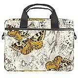 Bolsa de ordenador portátil Mariposa Frolic Notebook Sleeve con mango 13.3-14.5 pulgadas que lleva el bolso de hombro maletín