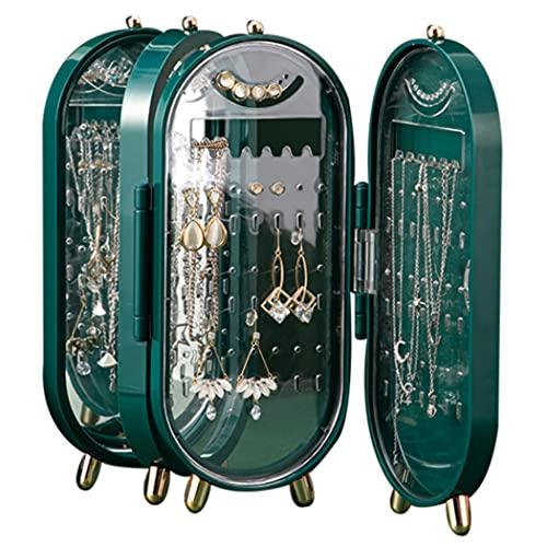 COSYOO Boucles d'oreilles Présentoir en Plastique Grande Capacité Collier Stockage Bracelet Armoire Femmes Dames Filles Adolescents Bureau à Domicile