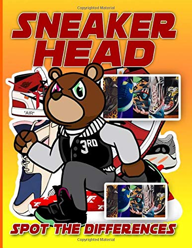 Sneaker Head Spot The Difference: Nice Sneaker Head Activity Picture Puzzle Books For Adults - (Unofficial High Quality)