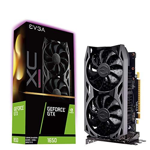 EVGA GeForce GTX 1650 XC ULTRA BLACK GAMING, 4GB GDDR5, piastra posteriore in metallo, scheda grafica 04G-P4-1157-KR