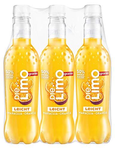 Die Limo leicht Maracuja-Orange Pet, 6er Pack (6 x 500 ml)