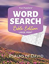 "Word Search: Bible Edition Psalms of David: 8.5"" x 11"" Large Print (Fun Puzzlers Large Print Word Search Books)"