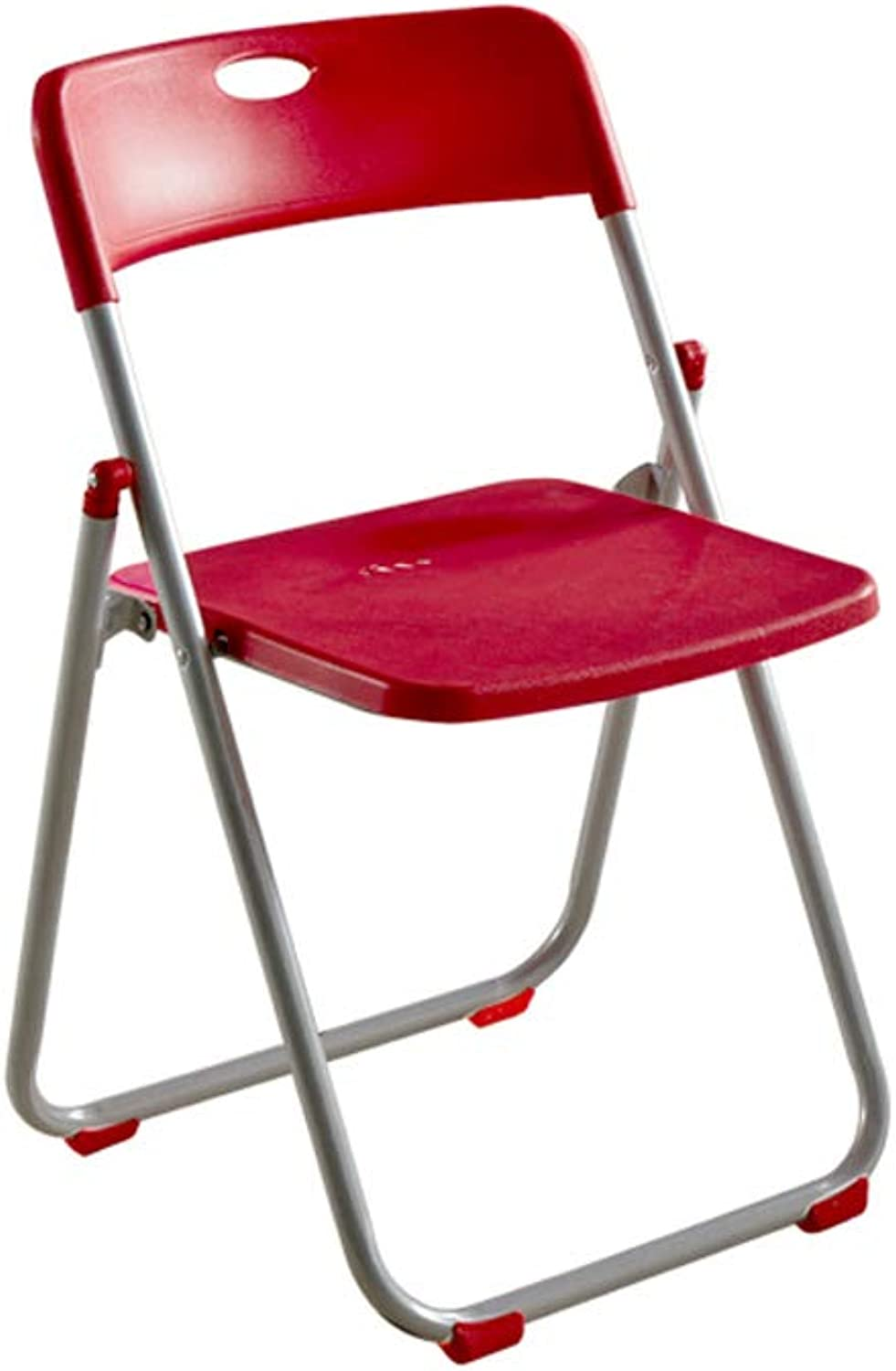 CQ Conference Folding Chair Portable Home Simple Dining Chair Chair Computer Staff Office Training Chair Leisure Seat Stool (color   Red)