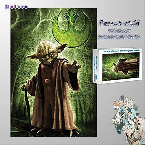 Mulore-Holzpuzzle 1000 Teile Puzzle 3D Für Erwachsene Eltern-Kind Spielzeug Foto DIY Gehirnentwicklung Decompress Assembly Spiel Geburtstagsgeschenk,Star Wars Charaktere