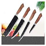 cuchillo de chef Cuchillos de cocina de acero inoxidable Conjunto...