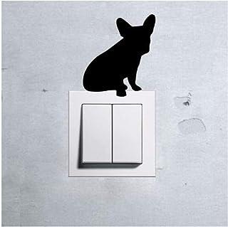 Qinyubing Autocollants Autocollant Mural De Chien Mignon Animal Pour La Décoration De La Maison Commutateur Amovible Panne...