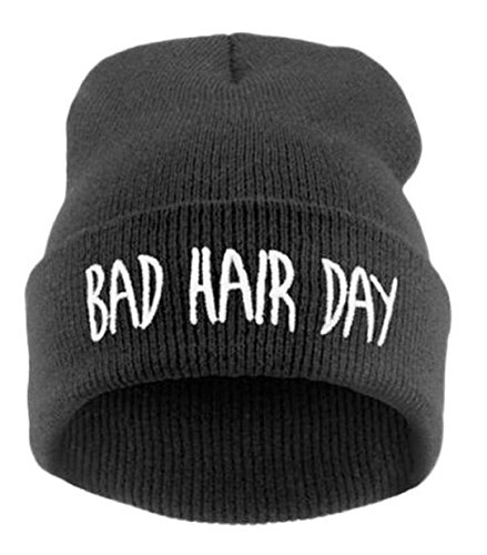 YABINA Bad Hair Day Beanie Hat - Multiple Colors (Black)
