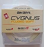 akami cygnus fluoro soft 50mt 0.235mm lenza per terminali pesca