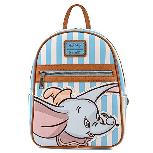 Loungefly Disney Dumbo Faux Leather Striped Mini Backpack