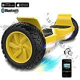 COLORWAY Hover Scooter Board SUV de 8,5 Pulgadas, Todo Terreno 700 W, Función App, Bluetooth y LED, Equilibrio Automático de Patinete Eléctrico para Niños y Adultos (Yellow)