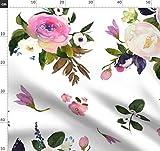 Rosa, Boho, Blumen, Kinderzimmer, Wasserfarben Stoffe -