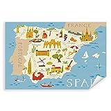 Postereck - 3363 - Spanien Karte, Kinder Kinderzimmer Meer