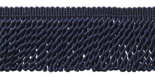 DÉCOPRO 10 Yard Value Pack / 2.5 Inch Bullion Fringe Trim/Style# EF25 Color: Dark Navy Blue - J3 / 30 Ft / 9.5 Meters