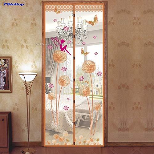 Anti-zanzara tenda tarassaco tenda magnetica per porte estate anti-zanzara crittografia finestra ombreggiatura anti-zanzara schermo porta A3 W110xH210