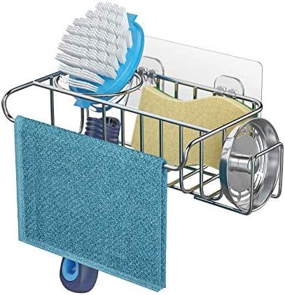 4 in 1 Sponge Holder Sink Caddy SUS304 Stainless Steel Sink Basket Brush Holder Dish Cloth Hanger product image
