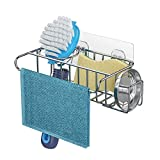 4 in 1 Sink Caddy Sponge Holder, SUS304 Stainless Steel Sink Basket Brush Holder...