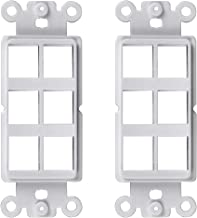 Conshine 6-Port QuickPort Decora Wall Plate Insert Compatible with Standard Decora Wallplates and Keystone, 4-Pack