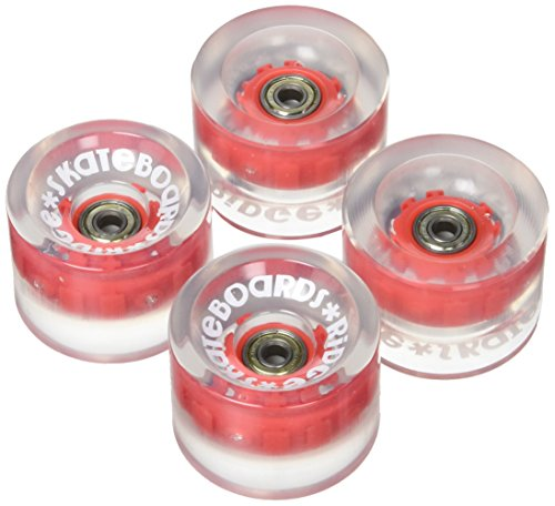 Ridge Unisex-Adult Räder Longboard Skateboard, Led Rot, 70 mm
