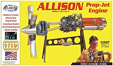 Allison Prop Jet Aircraft Engine STEM Plastic Model Kit 1/10 Atlantis Toy and Hobby