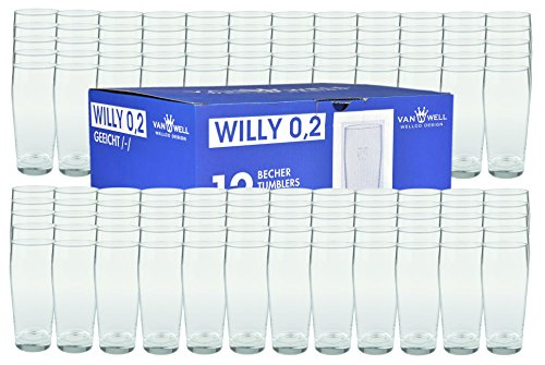 Van Well 120er Set Bierglas Willibecher 0,2L geeicht