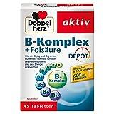 Doppelherz B-Komplex DEPOT mit Folsäure – Nahrungsergänzungsmittel mit allen 8 B-Vitaminen zur...