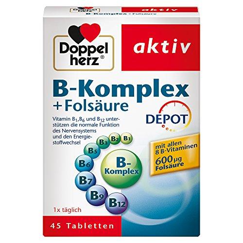 Doppelherz B-Komplex DEPOT mit Folsäure, 45 Tabletten