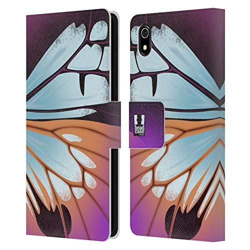 Head Case Designs Parantica Sita Illustrated Butterfly Wing Leather Book Wallet Case Cover Compatible for Xiaomi Redmi 7A (2019)