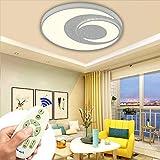 MIWOOHO LED Deckenleuchte 60W Dimmbar Modern Deckenlampe Schlafzimmer Küche Flur Wohnzimmer Lampe 3000-6500K [Energieklasse A++]
