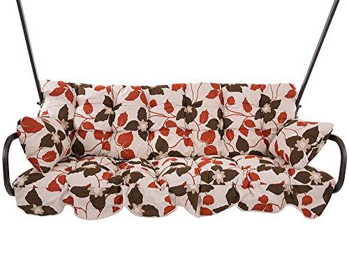 Dajar 466739 Auflagen-Set MINORCA für Hollywoodschaukel 184 cm A046-04LB Patio, Ecrurotbraun, 184 x 52 x 10 cm