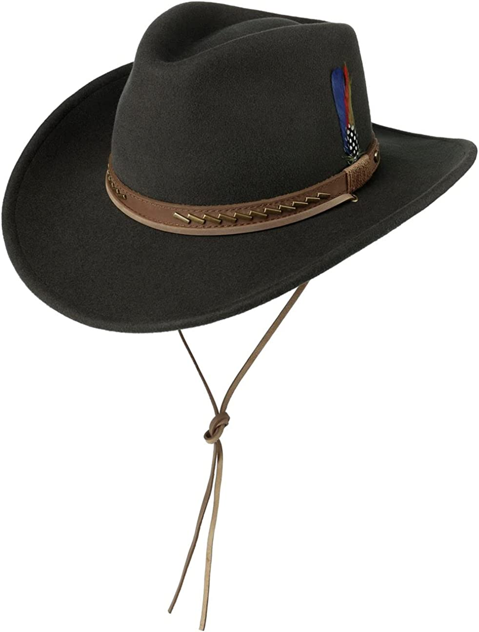 Stetson New popularity Silco Western Wool half Hat with - Chin Strap Men
