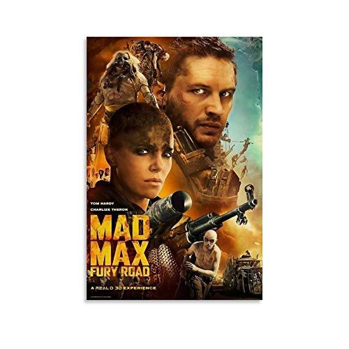 Poster cinematografico di xingqiwu Mad Max Fury Road 2015 - Poster su tela con stampa artistica da parete, 20 x 30 cm