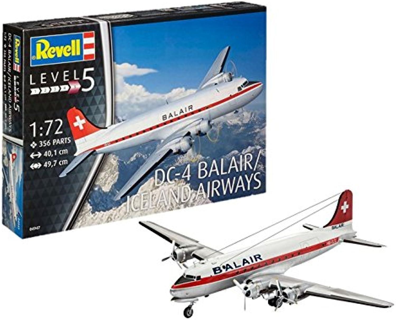 Revell Modellbausatz Flugzeug 1 72 - DC-4 Balair   Iceland Airways im Mastab 1 72, Level 5, originalgetreue Nachbildung mit vielen Details, 04947