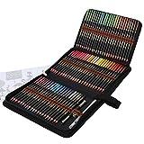 Lapices de Colores Acuarelables Set, 72 Lápices Acuarelables con Sistema Anti-rotura para Niños o Adultos, Lápices de Colores Profesionales Solubles en Agua para Mezclar, Estratificar y Acuarelas
