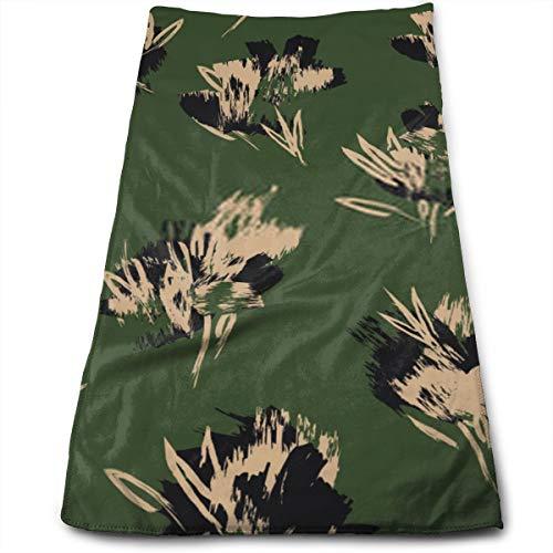 YudoHong Trazos de Pincel Abstractos Patrón Floral sin Fisuras Esta impresión Floral de pincelada es Adecuada para Impresiones de Moda Patrones Fondos Microfibra