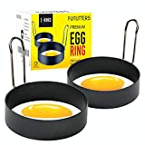 LARGE SIZE RINGS: These metal egg rings for frying eggs are 3.5 inch in diameter and 0.9 inch deep, giving you the perfect size to fry even jumbo sized eggs for English muffins and omelettes. IMPROVED NON-STICK COATING: Did your omelette stick on the...
