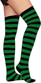 Raylarnia Women's Extra Long Opaque Striped Over Knee High Stockings Socks