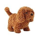 Fangteke Juguete de Perro Eléctrico para Niños Juguete de Peluche de Perro de Peluche de Simulación Eléctrica Juguete de Perro Inteligente Que Caminará Y Ladrará