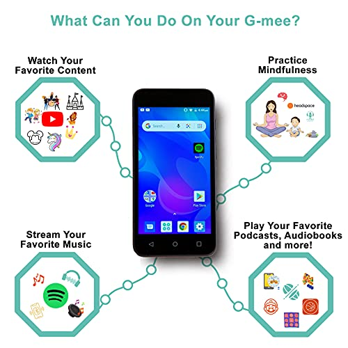 G-Mee Play-Android Smart Device (not a Cellphone) for Kids-Mp3 Player, Spotify Music Player & More-Kids' Electronics w/ Bluetooth and WiFi-Kids Safe for Ages 6 + w/ Built-in Parental Controls