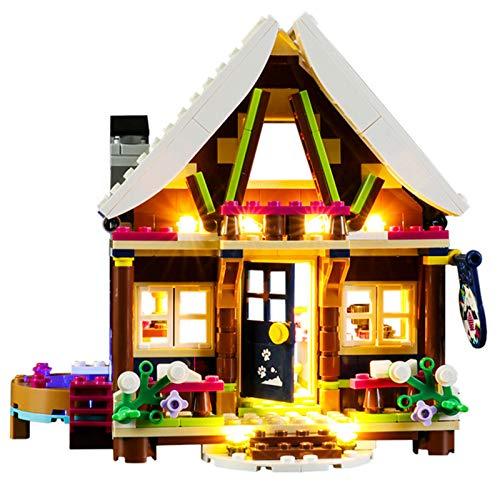 QZPM Licht-Set Für (Friends Chalet Im Wintersportort) Modell, LED Licht-Set Kompatibel Mit Lego 41323(Modell...