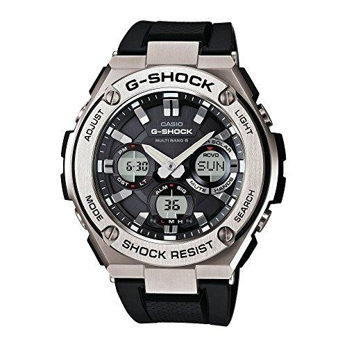 CASIO Herren Analog-Digital Uhr mit Harz Armband GST-W110-1AER