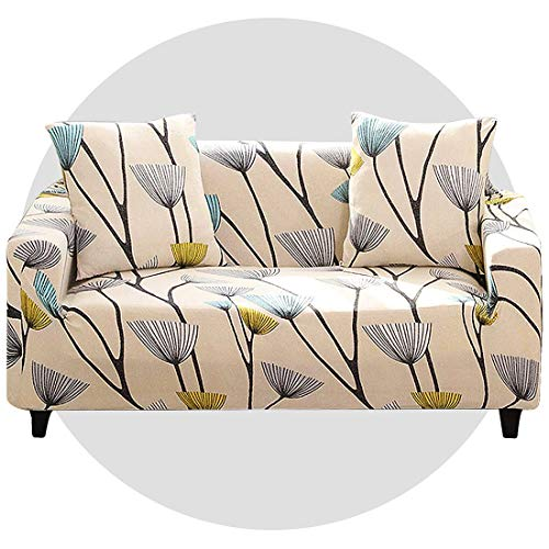 Super stretch sofa cover Sofa Covers 1/2/3/4 Seater Sofa ProtectorNon Slip Soft Couch Sofa Cover Washable Furniture Protector Sofa Cover with 1 Pillowcase for Couch Sofa (4 Seater, Warm dandelion)