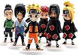 Gddg 6 Unids/Set Figuras de Acción de Naruto GK Modelo Estatuas Figuras Colección Regalos de Cumpleaños PVC 11cm A-A