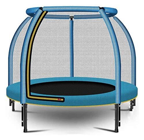 HLZY Broncler Trampoline con recinto - Trampolín al Aire Libre con Caja, Azul silencioso Gimnasio Saltar Mat Boy for niños, 55inch, 200 kg/Soporte