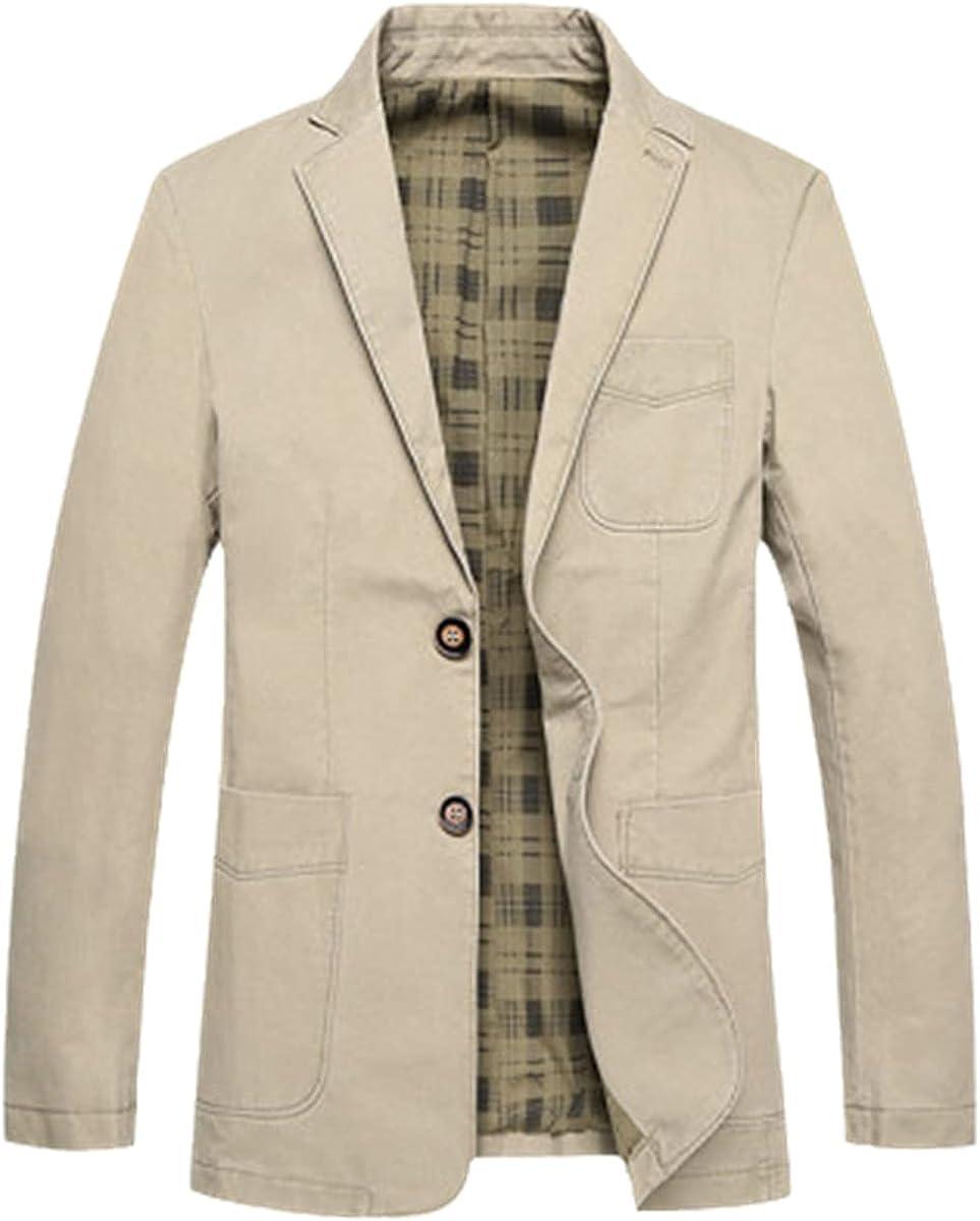 Casual Suit Jacket Men's Spring and Autumn Tooling Denim Jacket Slim Fit Blazer