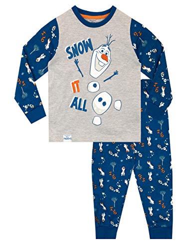 Disney Jungen Frozen Schlafanzug Olaf Gr. 104, blau