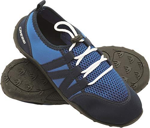 Cressi Elba Pool Shoes - Scarpette Adatti per Mare, Spiaggia, Barca, e Sport Acquatici Vari, Unisex Adulto, Azzurro/Blu 41