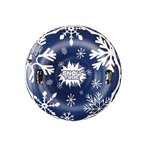 MYPB Tablero de esquí PVC Sled Ski Ring Circle con Mango Inflable Tamaño Espesado Círculo Durable Outdoor Snow Tube Accesorios de esquí F12.11 (Color : Style A)