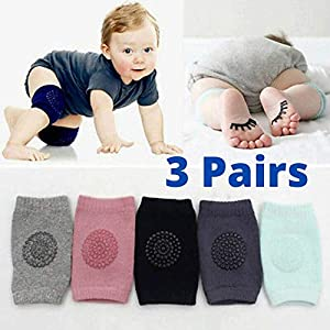 3 Pairs Baby Knee Protection Pad for Kids Crawling, Anti-Slip Padded Stretchable Elastic Cotton Soft Breathable… 1 51rVPAzpnPL. SS300